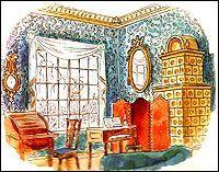"Эскиз к опере ""Вертер"". Комната Вертера. 1934 г."