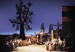 Сцена из спектакля 'Любовный напиток'. Лирик-опера (Фото Роберта Касела)