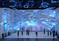 Эскиз декораций к опере 'Осуждение Фауста' в Лирик-опере (Фото Дэна Реста)