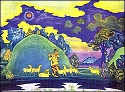 """Эскиз к опере """"Снегурочка"""" для Ковент-Гардена. 1919. Постановка не осуществлена"""