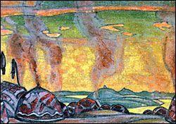 """Половецкий стан"". Постановка 1909 г. Париж. Театр Шатле"