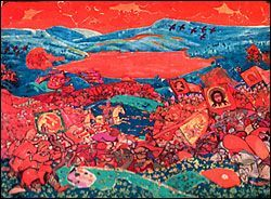 """""""Сеча при Керженце"""".Занавес. 1911 г. Париж. Театре Шатле"""