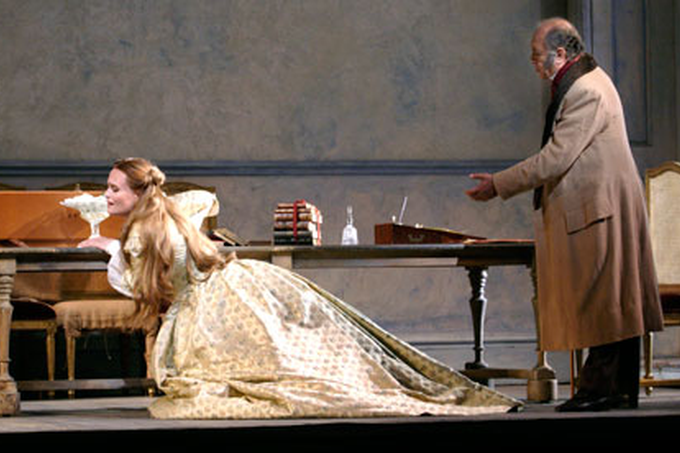Marina Poplavskaya and Leo Nucci in La Traviata at the Royal Opera House, 2011. Photograph: Catherine Ashmore